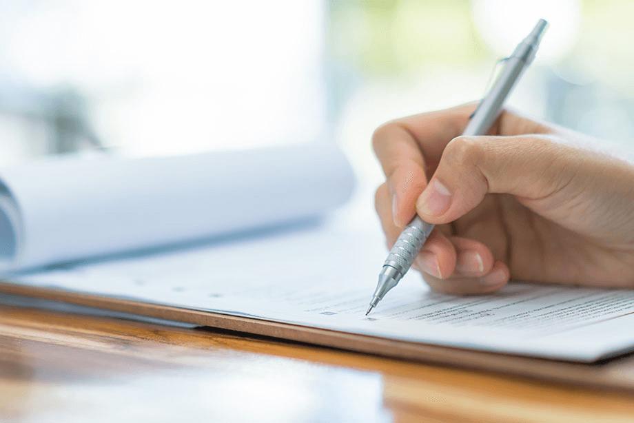 Ausfüllen eines Formulares